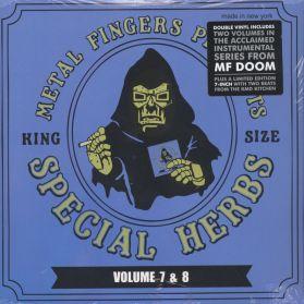 "MF Doom - Metal Fingers - Special Herbs Vol 7 and 8 - Instrumental Hip Hop- Sealed  2LP + 7"""