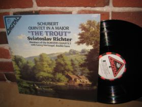 Schubert  - Trout Quintet In A major - Richter - Borodin Quartet - Classical LP