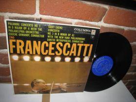 Zino Francescatti - Paganini - Violin Concerto No,1 / Saint-Saens  - 1964 Classical LP