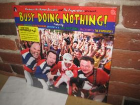 Busy Doing Nothing! - Evaporators Nardwuar - F Ferdinand - Blue Vinyl Indie Punk LP