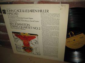 John Cage Lejaren Hiller - HPSCHD - Ben Johnston - String Quartet No. 2 - LP