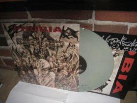 Phobia - 22 Random Acts of Violence - Grindcore Punk - Grey Marbled Vinyl LP + Poster