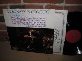 Chopin - Vladimir Ashkenazy In Concert - Funeral March - Nocturne Op 15 - LP