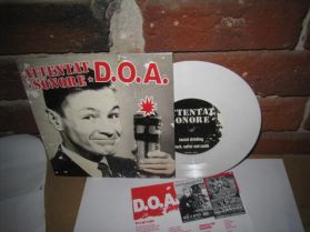 "D.O.A. - Attentat Sonore - 2013 Canada Punk White Vinyl 4 Trk 7"" EP + Lyric Insert"