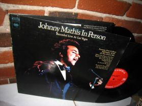 Johnny Mathis - In Person - Recorded Live At Las Vegas- Pop Vocal  2LP