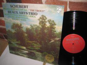 Schubert - Beaux Arts Trio - Samuel Rhodes - Trout Quintet - Classical LP