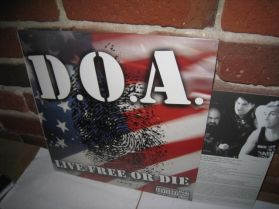 D.O.A. - Live Free Or Die - 2004 Vancouver Hardcore Punk Legends LP + Lyric Insert