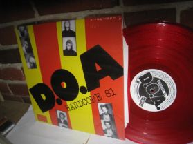 D.O.A. - Hardcore 81 - Red Vinyl KBD Canada Punk LP