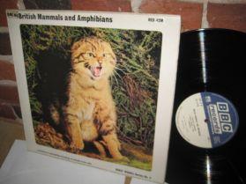 British Mammals and Amphibians - BBC Records - Wild Animal Sound Effects - LP