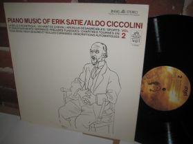 Erik Satie - Aldo Ciccolini - Piano Music Of Eric Satie Vol. 2  20th Cen. Classical LP