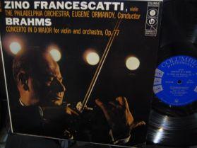 BRAHMS - CONCERTO FOR VIOLIN - Zino Francescatti - Riveting Performance - Six Eye - LP