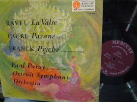 RAVEL - La Valse - Faur - Pavane - Paray Detroit Symph - Living Presence  - Subtle LP