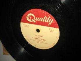 The Crows - Gee / I Love You So - R+B Doo Wop Jump Blues 78RPM