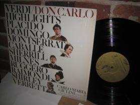 Verdi - Don Carlo Highlights - Guilini - Placido Domingo - Caballe - Romantic Opera LP