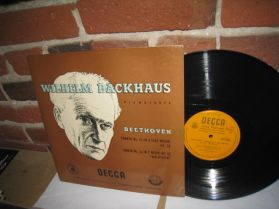 Willhelm Backhaus - Beethoven -  Sonata No. 12 , 21 - UK Decca 2532 Classical LP