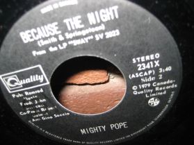 Mighty Pope - Because The Night - Sweet Blindness - Canada Modern Soul - 7 ""