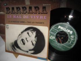 """Barbara - Le Mal De Vivre - Si La Photo Est Bonne Tous Les Passants French 3 Trk 7"""" EP"""