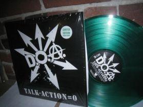 D.O.A. - Talk - Action = 0 - Canada Punk - Ltd Green Vinyl LP