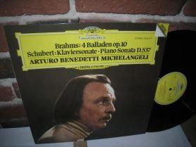 Brahms - 4 Balladen Op.10 - Schubert - Sonata D .537 - A B Michelangeli - Piano LP