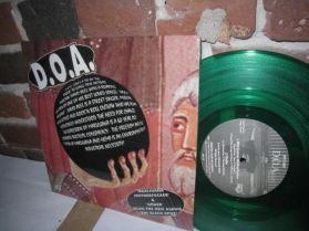 "D.O.A. - The Showbusiness Giants - Canadian Punk 1995 Split Green Vinyl 10"" 5 Trk EP"