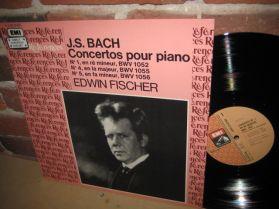 Bach - Concertos for Piano - Edwin Fischer - Beautiful, Seamless Piano - EMI LP