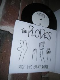 """The Plodes - High Five Every Animal - 2014 Vancouver Garage Punk 4 Trk 7"""" EP"""