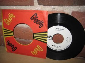 """Jack Scott - WIGGLE ON OUT/WHAT A WONDERFUL NIGHT OUT - Rockabilly - 7"""" 45"""