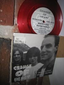 """Change Of Heart - Asexuals - Red Vinyl - Toronto Canada Indie Punk 4 Trk 7"""" 45 EP"""