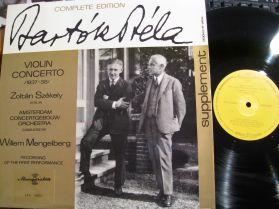 Bartok - ZOLTAN SZEKELY plays the Bartok Violin Concerto - Hungaroton