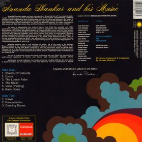 Ananda Shankar - And His Music - 1975 Indian Funk Psych 180 Grm LP