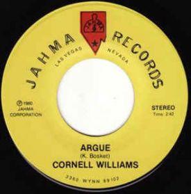 "Cornell Williams  – Argue / I Love You - 1980 Modern Soul Disco 7"" 45"
