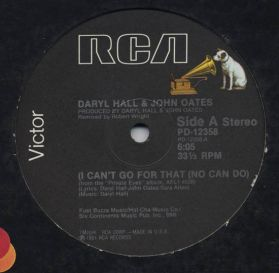 Daryl Hall & John Oates – I Can't Go For That (No Can Do) - 1981 Soul Rock 2 Trk 12 EP