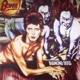 David Bowie - Diamond Dogs - 1974 Orwell Inspired Glam Rock - Red Vinyl - Sealed 180 Grm LP
