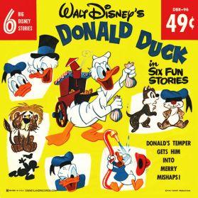 "Donald Duck - 6 Fun Stories - Peanut Vendor - Milkman - Fire Station - 1961 Childrens 6 Trk 7"" 45 EP"
