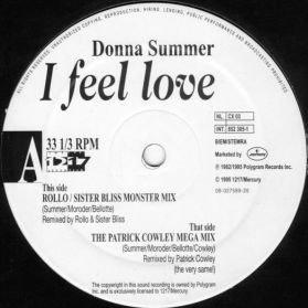 """Donna Summer – I Feel Love  (Rollo / Sister Bliss Monster Mix)  -  1995 Space Disco + Trance Mix - 12"""" EP - Listen"""