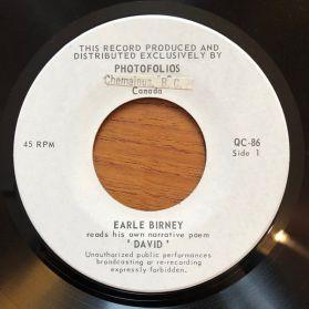 "Earle Birney – David - Calgary Poetry Spoken Word 7"" EP"