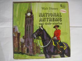 Walt Disney – National Anthems And Their Stories - 1965 Childrens - Original Canada LP + Booklet