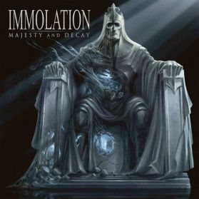 Immolation ‎– Majesty And Decay - 2010 Death Metal - Clear w/ White and Black Splatter LP in Shrink