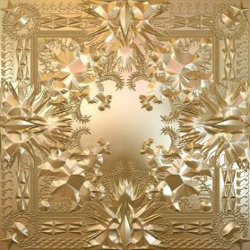Jay-Z - Kanye West  - Watch The Throne - 2012 Gold Embossed Fold Out Cover  -  Sealed Pic Disc  2LP + Poster