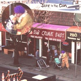 Jerk In The Can - Big Crime Baby - 2016 Vancouver Indie Synth Ltd. Pink 150 Grm LP