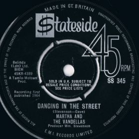 "Martha And The Vandellas ‎– Dancing In The Street - 1964 Northern Soul UK Issue - 7"" 45"