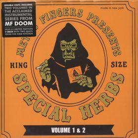 "MF Doom - Metal Fingers - Special Herbs Vol 1 and 2 - Instrumental Hip Hop - Sealed  2LP + 7"""