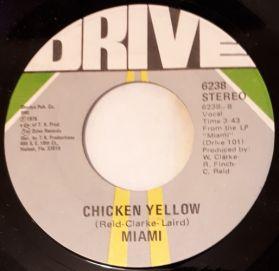 Miami - Chicken Yellow - Hey Ya'll, We're Miami -  Huge Funk Soul  Brk  7' 45