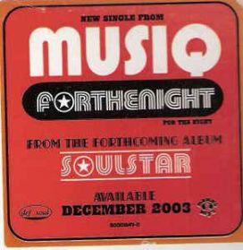 MUSIQ -  Forthenight - 2003 Modern Soul Dance - R+B 12 EP