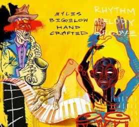 Myles Bigelow – Hand Crafted -  2018 Vancouver Modern Latin Jazz and Soul Electronic - Purple Vinyl - Sealed  LP 100 Copies Only