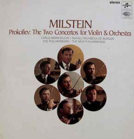 Prokofiev - Concerto No. 1 + 2 - Nathan Milstein - 1965  C M Guilini - Burgos - Classical LP