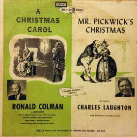 Ronald Colman - A Christmas Carol - Charles Laughton - Mr. Pickwick's Christmas - 1950 Xmas Spoken Word - Original Canada Stereo LP