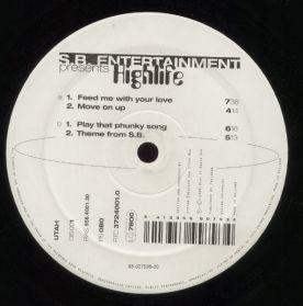 """S.B. Entertainment – Highlife - 1995 Steve Bug - Techno Tech House 4 Trk 12"""" EP"""