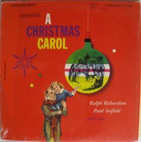 Charles Dickens - A Christmas Carol - Ralph Richardson - Paul Scofield - 1960 Spoken Word LP in Shrink