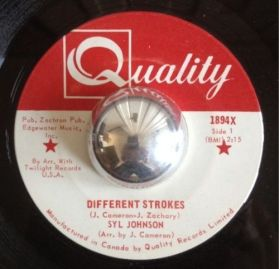 "Syl Johnson ‎– Different Strokes / Sorry Bout Dat -  1967 Raw Funk Brks 7"" 45"